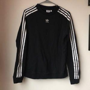 Adidas Three Stripe Black Crew Neck
